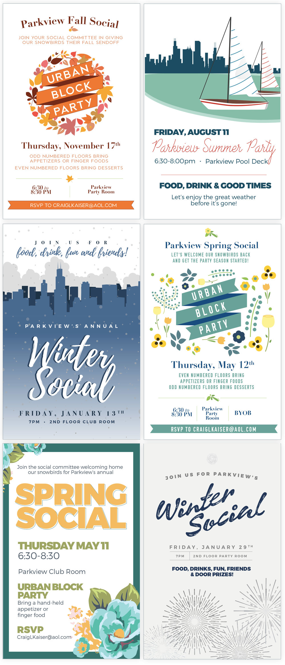 Seasonal Party Flyer Suite Design