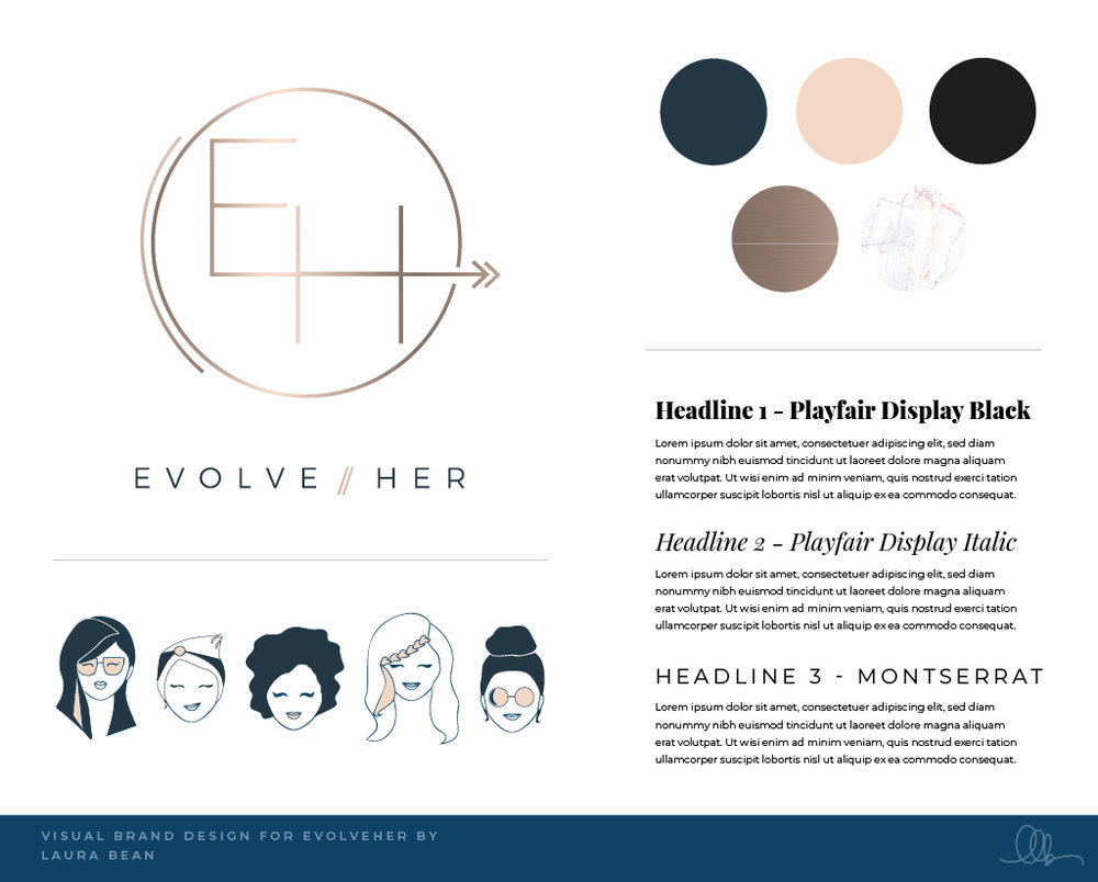Visual Brand Design - evolveHer