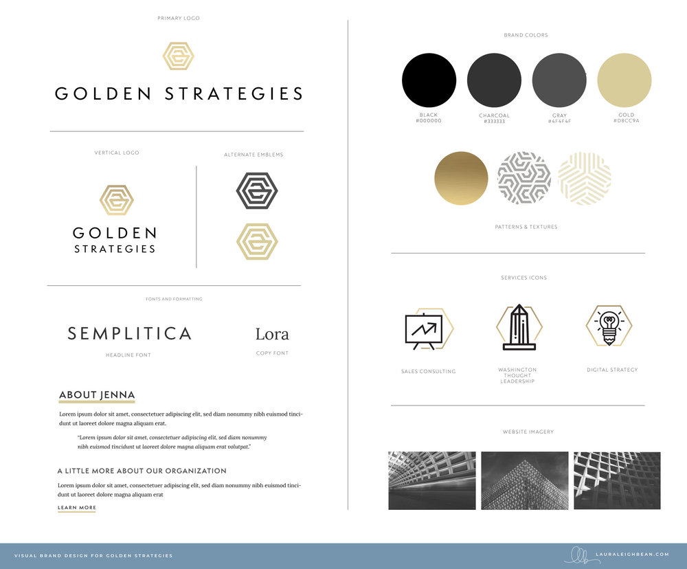 Golden Strategies Brand and Logo Design