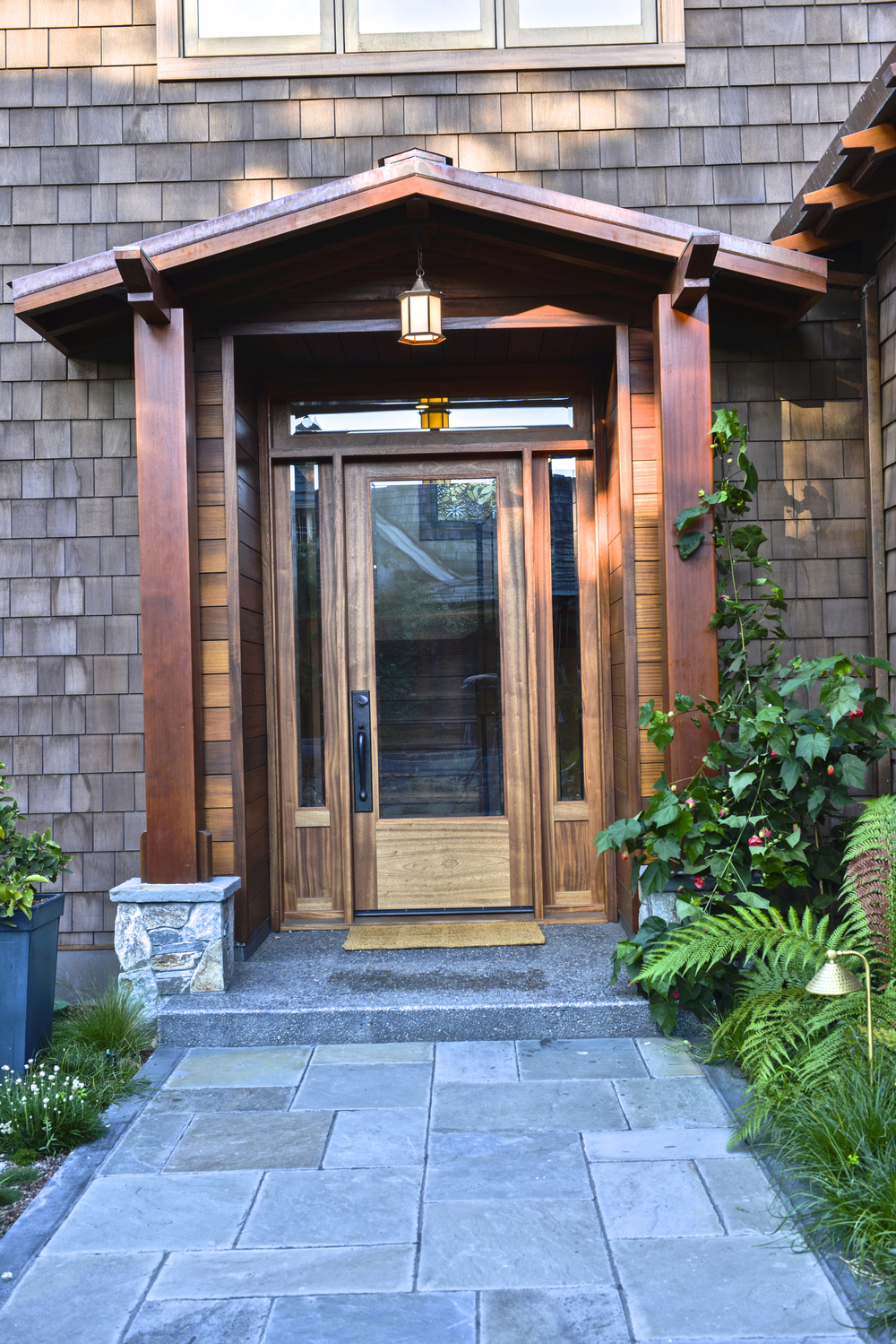 Sapele Ship-lapped Entry Way And Entry Door With Side Lights And Transom. Western & Front Door Stoops u0026 The Original Front Stoop. pezcame.com