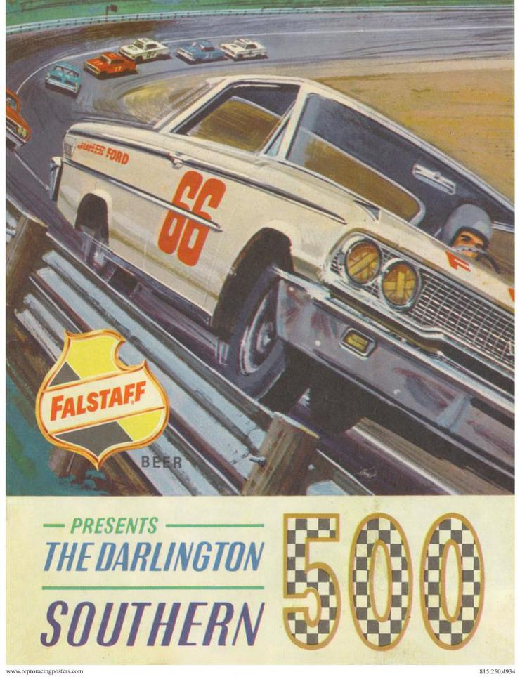 Vintage Reproduction Racing Posters