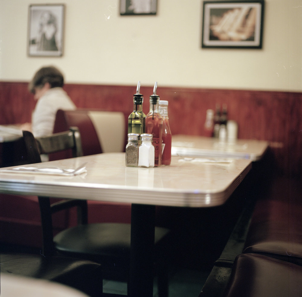 the diner we went to before Emma and I got matching tattoos! We love diners (taken on a Hasselblad