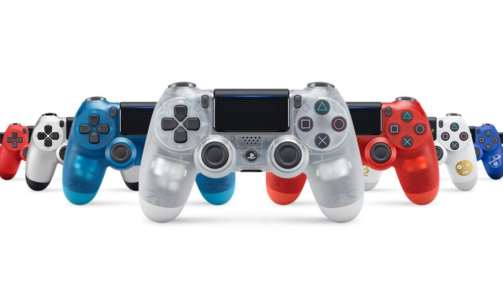 PS1-Inspired Crystal Dualshock 4 Controllers Coming to PS4 This October - http://www.ign.com/articles/2017/09/01/ps1-inspired-crystal-dualshock-4-controllers-coming-to-ps4-this-october