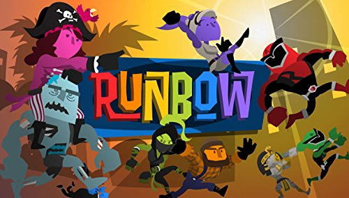 Runbow    Runbow is a multiplayer-focused platformer in which players aim to be the first to reach a trophy at the end of each level.   Grimlock's Must or Bust:    Must - Runbow is a must for anyone looking for a crazy, fun, and intense multiplayer time racing across insane levels. The game is simple and fun, and with zany outfits to unlock, along with some cool cameos, you can't go wrong playing some Runbow with your friends.