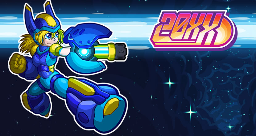 20XX   20XX is a roguelike action platformer that you can play with a friend. Jump and shoot your way through ever-changing levels, collect awesome new powers, and battle mighty bosses in the name of saving the human race maybe!  20XX also features full co-op. Play with a friend on the couch or over the internet!   Grimlock's Must or Bust:    Must - I don't need to say much, A Mega Man style platformer with local and online co-op, yep this is a MUST!