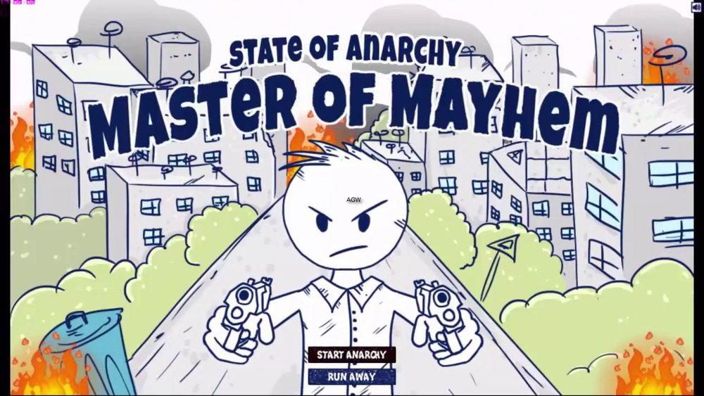 State of Anarchy: Master of Mayhem    Releasing on:  Nintendo Switch, Xbox One,PC - 8/1  Prepare for bullet hell action and crazy driving! Your town is on fire, anarchy reigns the streets, aliens rampage in the sky! Grab your gun and join the fun!   Grimlock's Must or Bust:    Must-  If you are looking for a fun bullet action game with some of the most ridiculous graphics and sound effects, this is a must own!