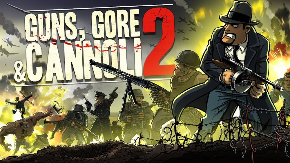 Guns, Gore & Cannoli 2    Releasing on:  Nintendo Switch - 8/2   Also Available on:  PS4, Xbox One, PC   Guns, Gore & Cannoli 2  revives the good, old, action platform run & gun genre, but this time with a bunch of humor and buckets of blown off body parts. In this sequel to  Guns, Gore & Cannoli , Vinnie Cannoli's story continues and this time it's personal.   Grimlock's Must or Bust:    Must- 2 The first game was a fun couch co-op game that Deadite and I enjoyed immensely. Guns, Gore & Cannoli 2 looks like it picks up where the first game left off, with a fun over the top story mixed with ridiculous enemies and some amazing weapons to blow off more body parts!