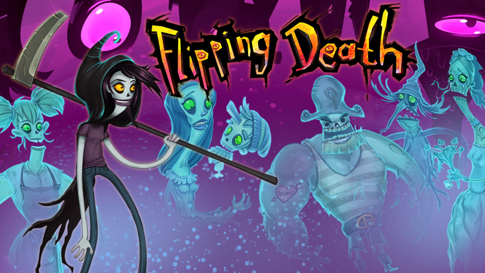 Flipping Death    Releasing on 8/7 for Switch, Xbox One, PS4   Possess the living, aid the dead and flip between the worlds of Flipping Death – a puzzling adventure platformer where you find yourself filling in for Death. Maybe your new powers will help you solve the mystery of your own demise?   Grimlock's Must or Bust:    Must- I was able to play Flipping Death at PAX East this year and enjoyed the demo immensely. Talking with the developers about the flipping between worlds mechanic was what originally caught my attention to stop and play the demo. Then they told me I was covering for the Grim Reaper while he took a vacation, at that point I was sold on Flipping Death.Once I saw the artwork I realized this was the same team that made Stick It to The Man!, a game I really enjoyed but never paid attention to who made it. The puzzle solving and story of Stick It to The Man! was great and I could see a lot of that same design and story telling in Flipping Death. So go enjoy Flipping Death and when you are done pick up Stick it to The Man!