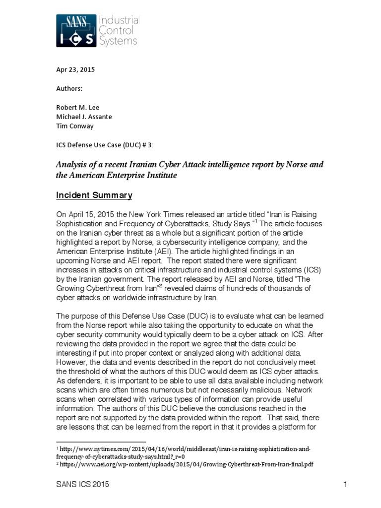 Infosecurity US - https://infosecurity us - SANS ICS Defense