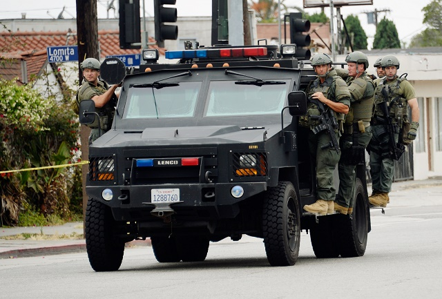 Pictured: Los Angeles Police Special Weapons and Tactics Team Members