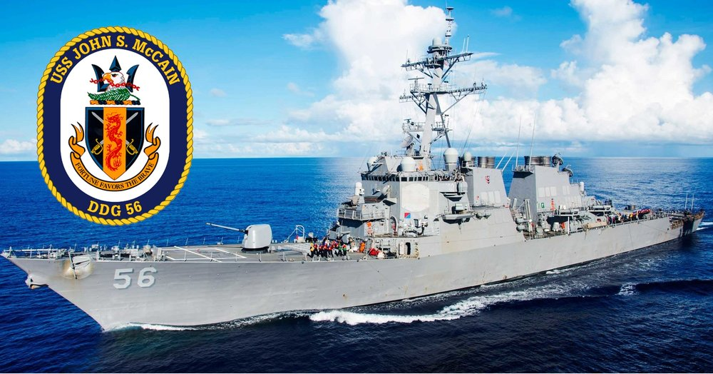 The USS John S. McCain (DDG56) underway long before the collision that killed, maimed and injured many of our nations finest Sailors.