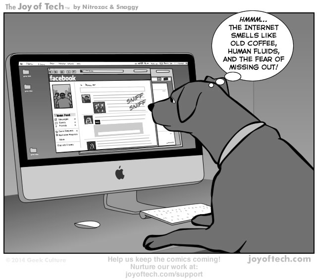 Via    the Comic Worldview of      Nitrozac    and    Snaggy    at    The Joy of Tech®!