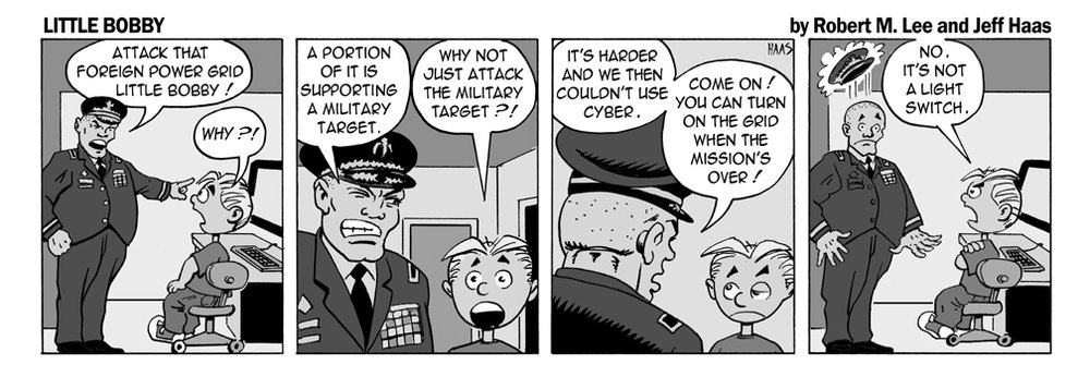 Via   the Erudite Security Mindset of   Robert M. Lee   & the Superlative Illustration Talents of   Jeff Hass   at   Little Bobby Comics.