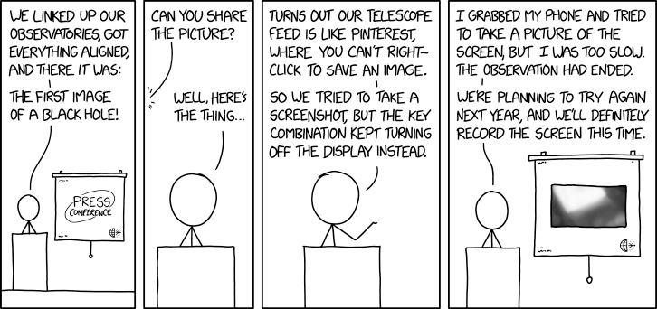 XKCD, EHT Black Hole Picture - Security Boulevard