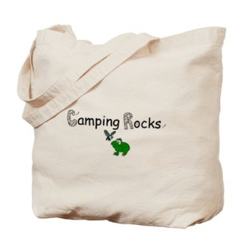 Gifts for Tree-Hugging Kiddos - Camping Rocks Tote