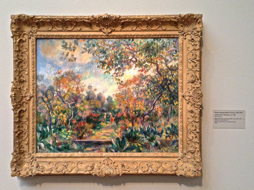 My favorite painting was this Renoir. I'm a sucker for landscapes that highlight fall colors.