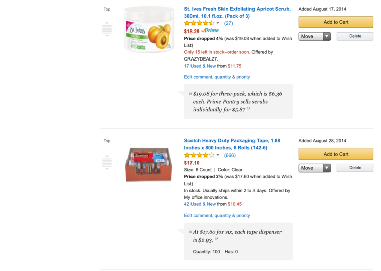 34e5d774a4f41 How to Use Amazon's Wishlist to Save Money ~ Make tracking prices easier ~  www.