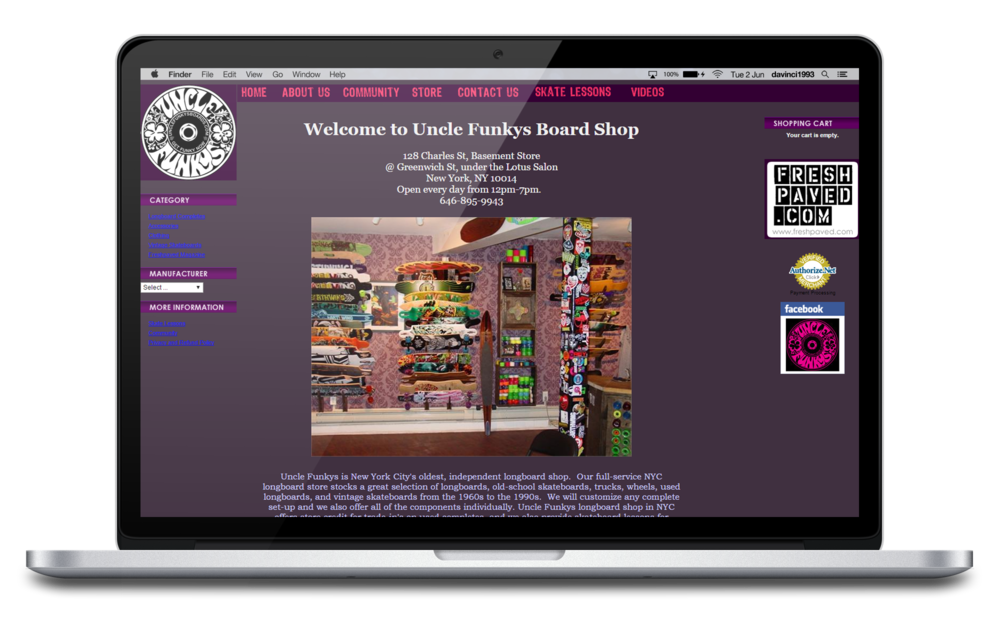 Uncle Funkys Boards old website