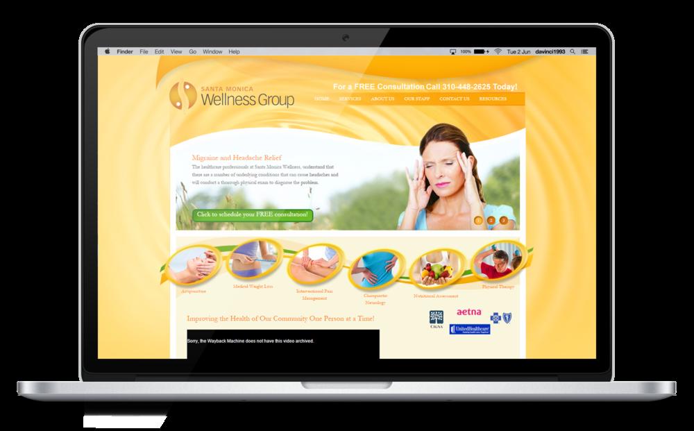 Santa Monica Wellness Group old Website