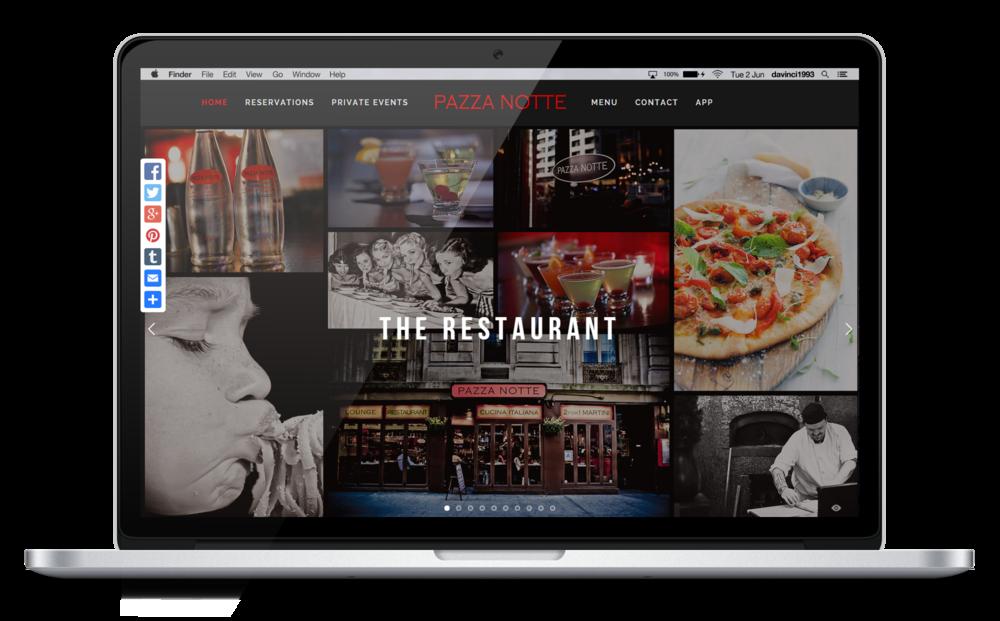 Pazza Notte Restaurant & Lounge new Website