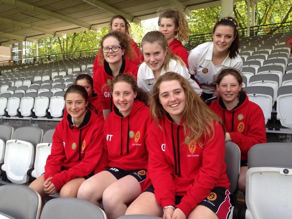 Georgie Walker and the winning team at Lords