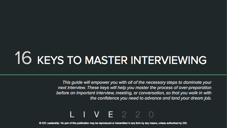 Guide to master interviewing techniques