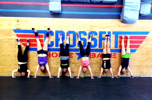 Handstand pics are a must with this group