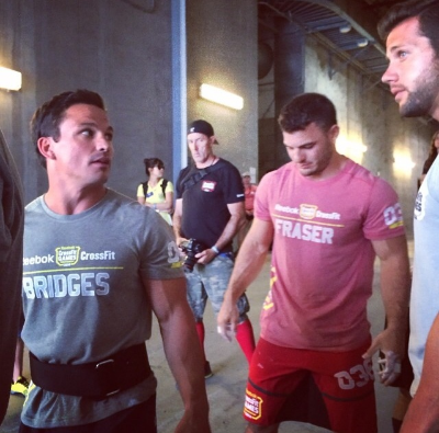 Josh Bridges and Mat Fraser getting ready.