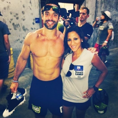 Rich Froning is all smiles with Jihra.