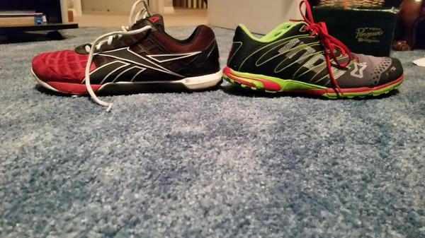 """Reebok Nano 3.0 and Inov-8 F-Lite 252"""