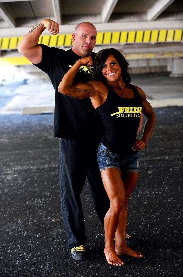 Tim and Kim Flexing