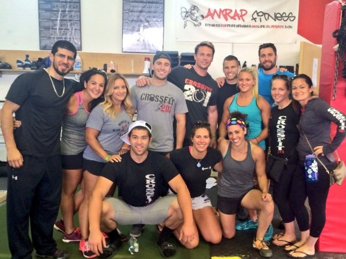 Supporting our CrossFit 201 athletes & friends at a competition over the summer.