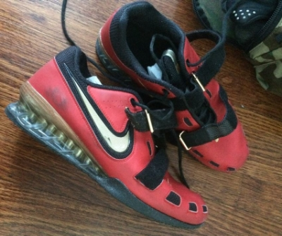 Our friend Jack's dirty and smelly Nike Romaleos Weightlifting shoe