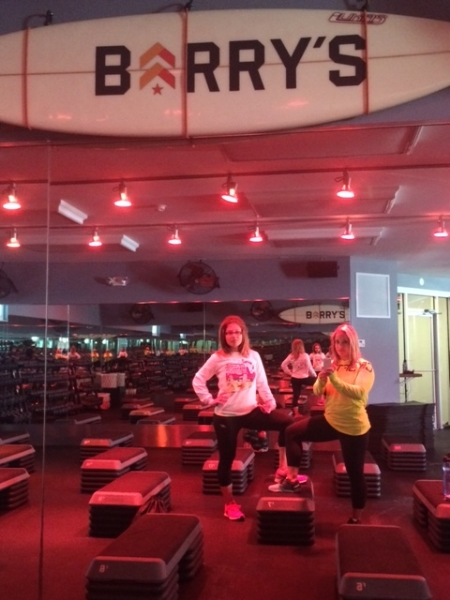 Katie and Ali before their class at Barry's Bootcamp in Amagansett