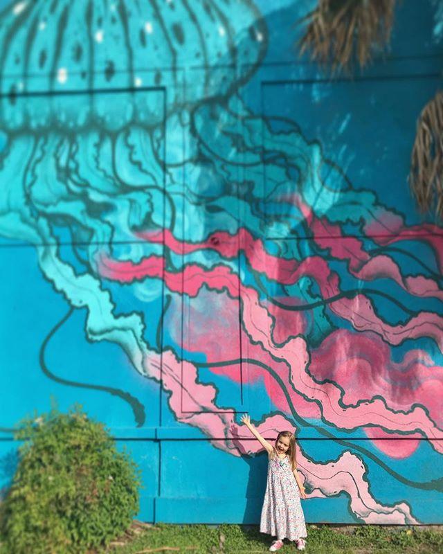 Her favorite mural! #jellyfish