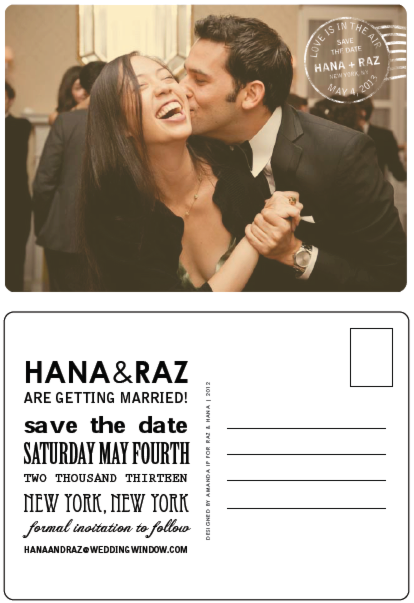 HANA & RAZ: SAVE THE DATE