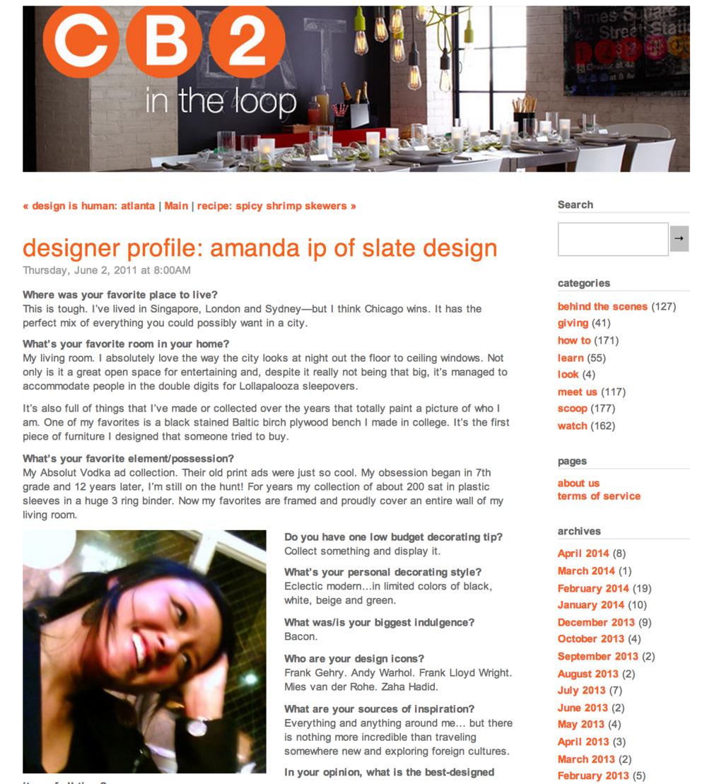 CB2 : DESIGNER PROFILE