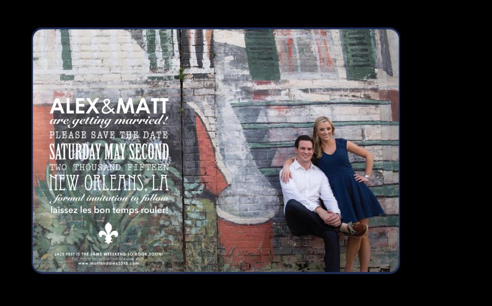 ALEX & MATT : SAVE THE DATE