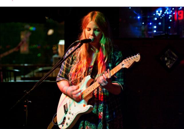 Steam Whistle Unsigned ft. Samantha Savage Smith live at Broken City. Photo credit: Amy Jo Espetveidt