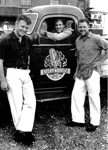 Left to right: Greg Taylor, Cameron Heaps, Greg Cromwell. Photo credit Steam Whistle Brewing