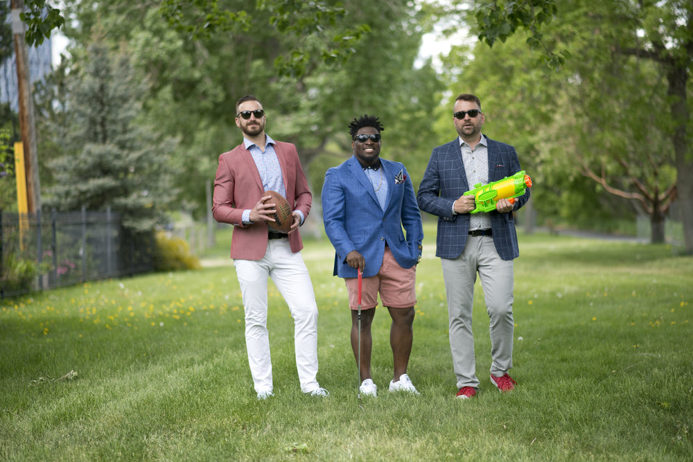 Andrew, Beni and Dave are styled by Espy.