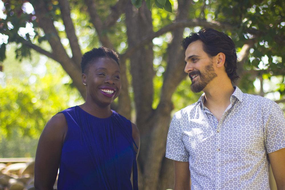 Lynn Olagundoye and Chris Maric