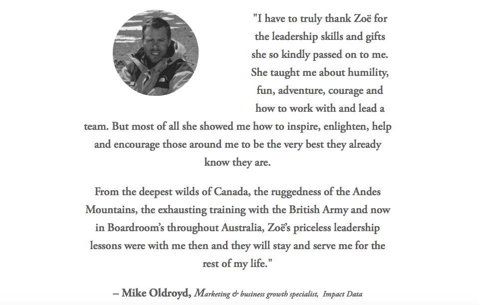 Mike Oldroyd Testimonial