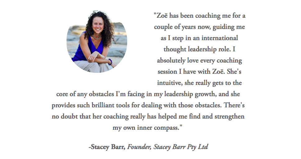 Stacey Barr Testimonial