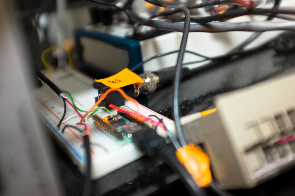 Custom electronics to control and monitor a motor, accelerometer, lights, and more.