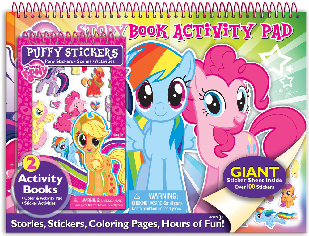 My Little Pony activity pad & sticker set designed & produced for Bendon, Inc. Licensed by Hasbro. 2014