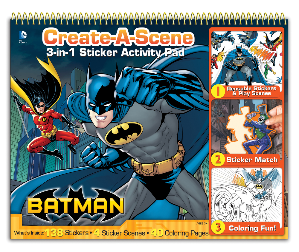 Batman activity pad designed & produced for Bendon, Inc. Licensed by DC Comics. 2014