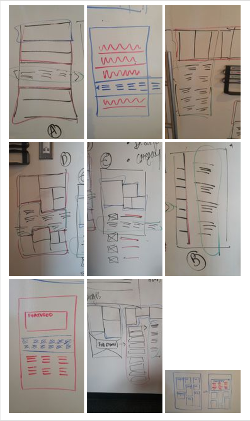 #1 - Wireframe Sketches  (me + director)