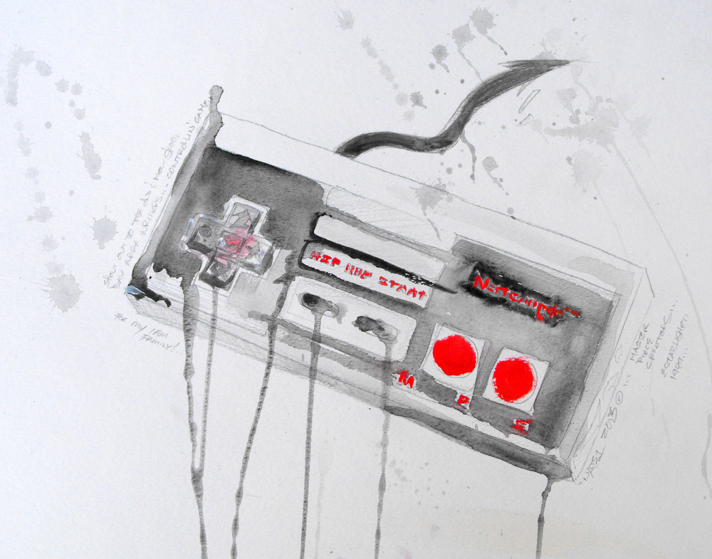 Control Nintendo, Watercolor 2012