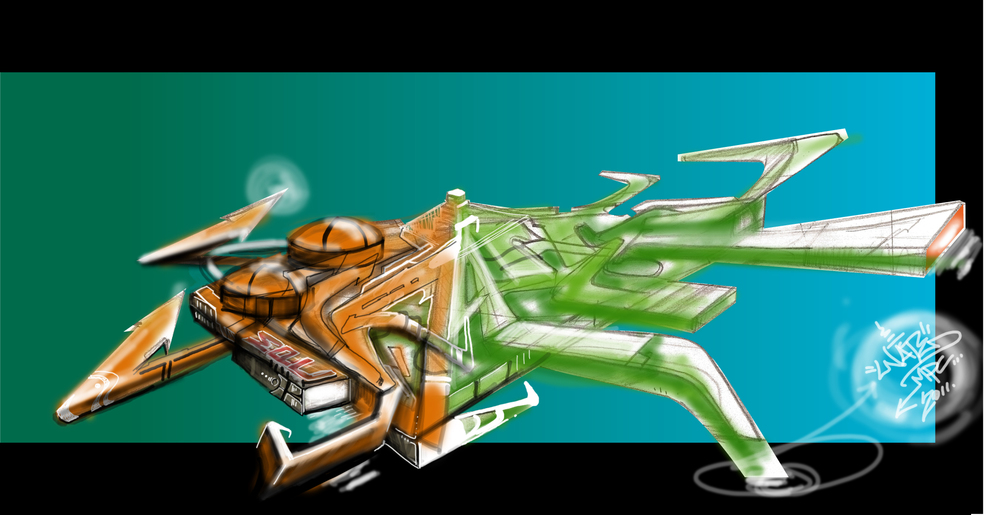Spaceship Nate1 Piece 2011